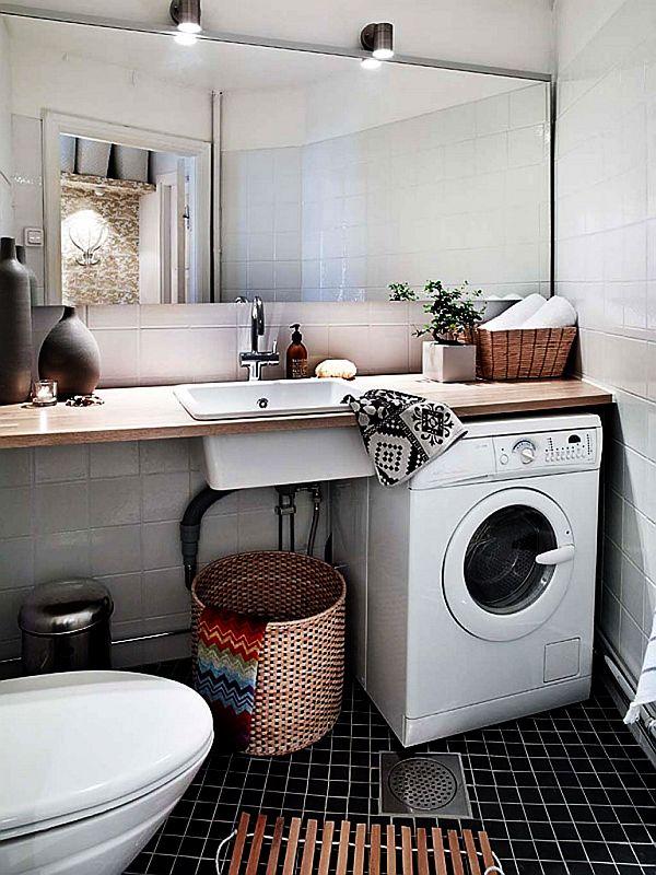 Cute Pinterest Hidden washing machine in bathroom bathroom - amenagement de petite salle de bain