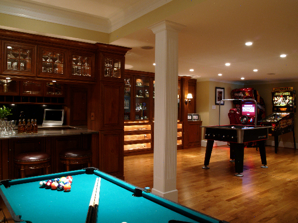 design ideas game and entertainment room