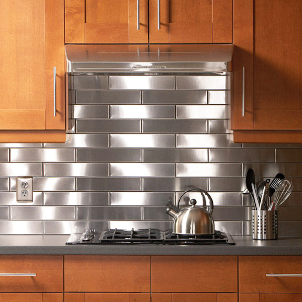stainless steel kitchen backsplash stainless steel subway tile kitchen backsplash painted shaker