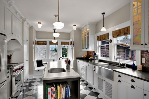 Americana Vintage Kitchen Island Checkered Patterns For Home Decor: Charming Or Cheap?