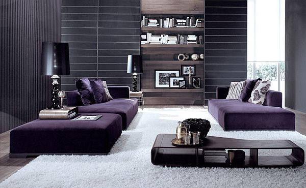 How To Decorate With Purple in Dynamic Ways - purple living room decor