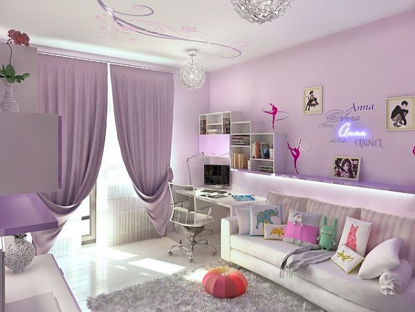 Teenager Zimmer Mädchen Deko Implementing Neon Colors Tastefully: 17 Design Ideas