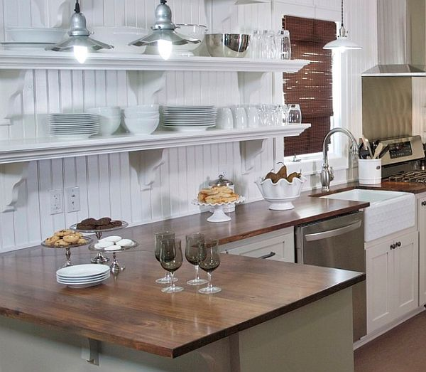 Perfect White Cottage Kitchens Style With Cabinets Inside Design - cottage kitchen ideas