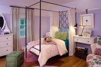 girls room with purple walls - Decoist