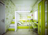 Lime green kids room - Decoist