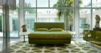 white and lime green living room rug - Decoist