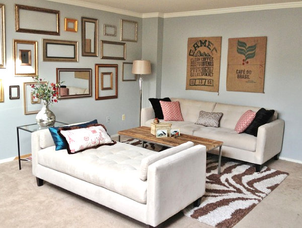 How to Decorate a Small Living Room - living room chaise lounge