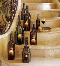 DIY Wine Bottle candle holder - Decoist