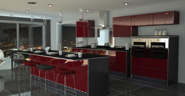Red And Black Kitchen 10 Kitchen Color Schemes For The Modern Home