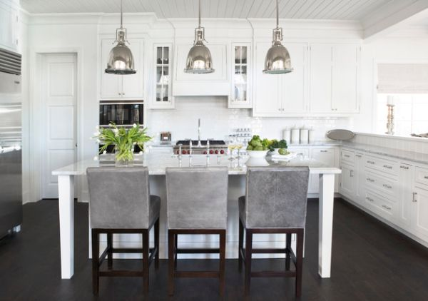 pendant lights bring antique touch modern white kitchen white kitchen beams white kitchen beamed ceiling home styles nantucket