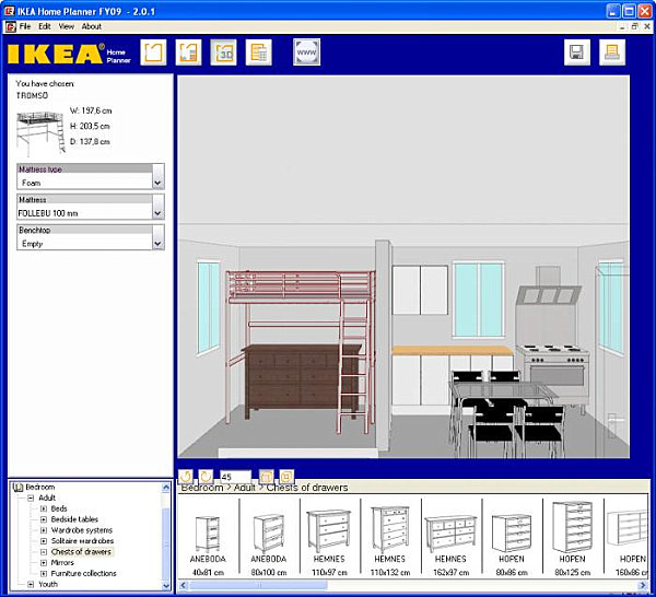 Ikea Home Planer 3d Tool Room Planner Tools For The Modern Home