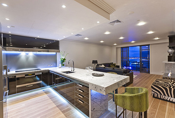 12 Kitchens with Neon Lighting - modern kitchen lighting ideas