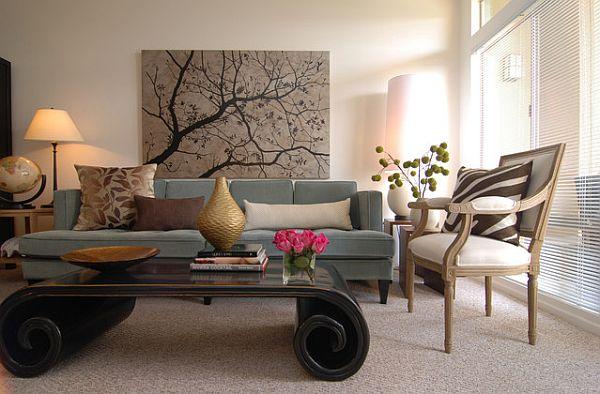 Tips for Hanging Framed Artwork and Photos - artwork for living room