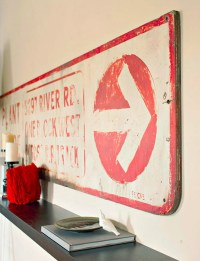Antique road sign wall art - Decoist