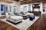 Rustic Open Kitchen And Living Room Design