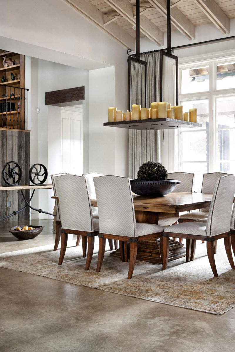 Rustic Texas Home With Modern Design And Luxury Accents - Dining Room Decoration Modern