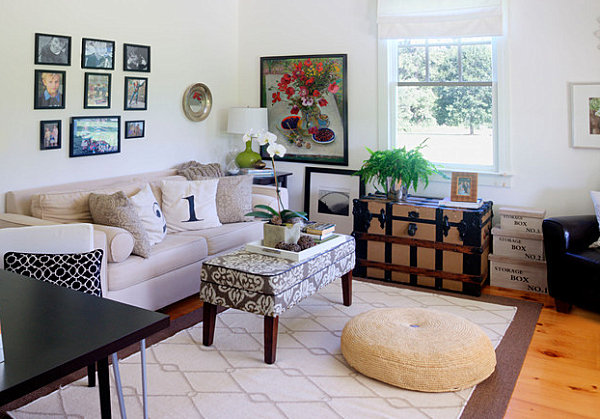 Country Home Decor with Contemporary Flair - modern country living room