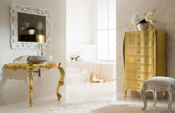 Accent Chest Of Drawers Golden Accents Which Define A Modern Home