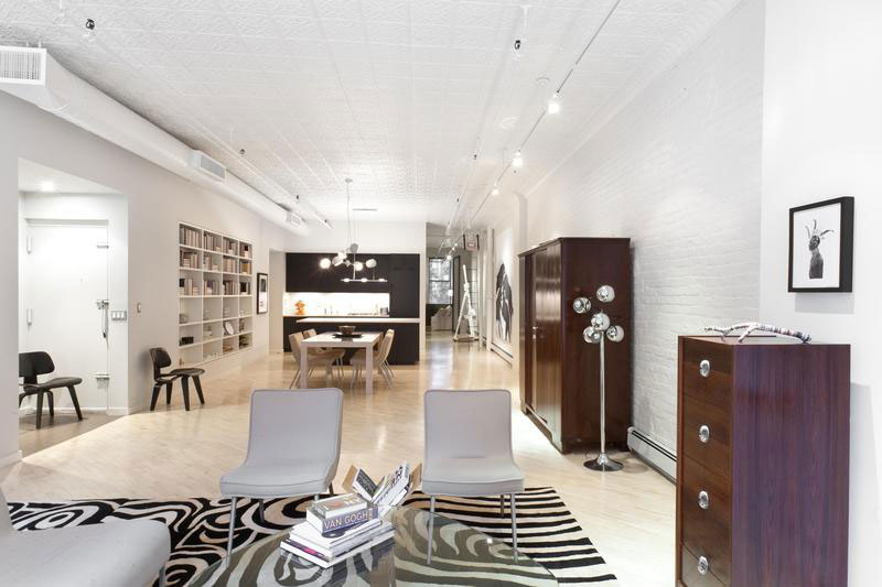 Ceiling Wallpaper 3d Stylish Soho Loft In New York Features A Trendy Black And