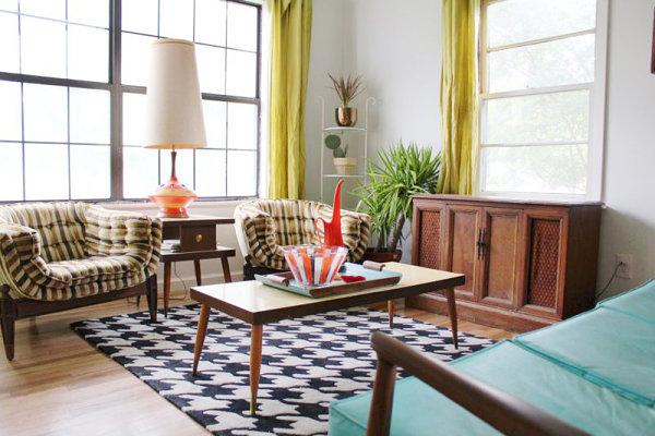 17 Creative Living Room Interior Design Ideas - retro living room furniture