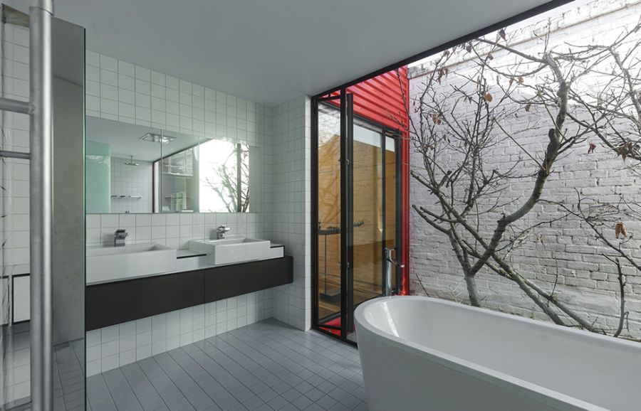 Traditional Bathrooms Modern Melbourne House With A Japanese Maple At Its Heart!