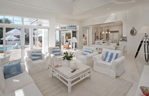Coastal Style Interiors Ideas That Bring Home The Breezy Beach Life! - beach style living room