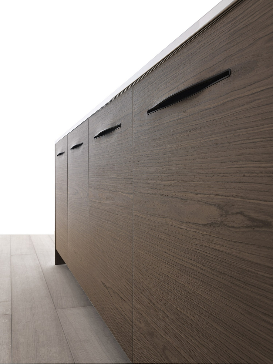 Stacked Cabinets Sculptural Design And Stylish Slit Handles Shape Exquisite
