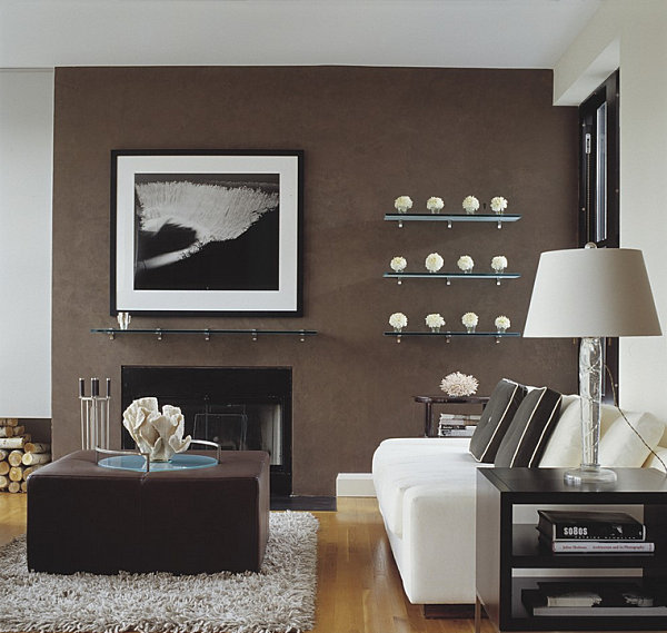 5 Easy Living Room Makeover Ideas - accent wall in living room