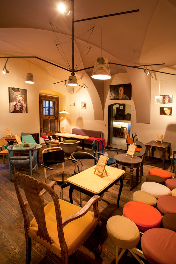 3d Wallpaper Interior Design Eclectic Coffee Shop Design In The Heart Of Transylvania