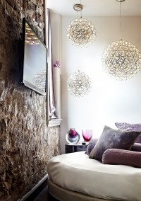 Pendant lights in the living room