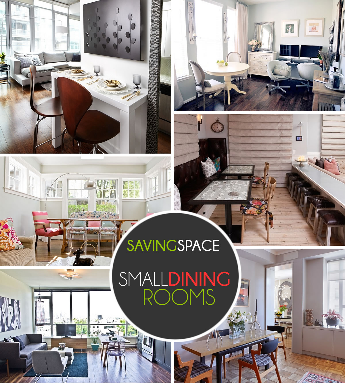 Small Dining Rooms That Save Up On Space