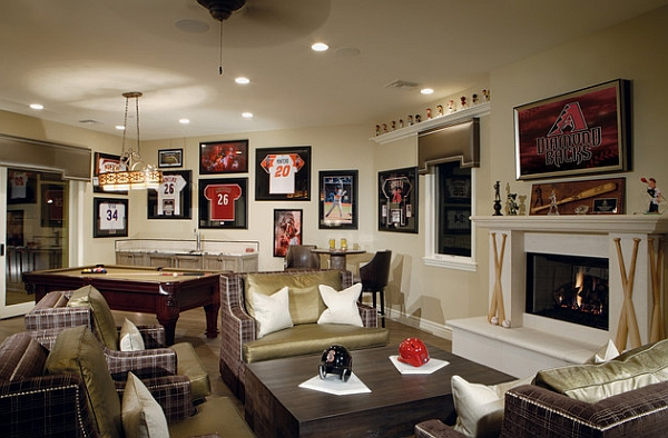 Theater Room Ideas Framed Jerseys: From Sports-themed Teen Bedrooms To