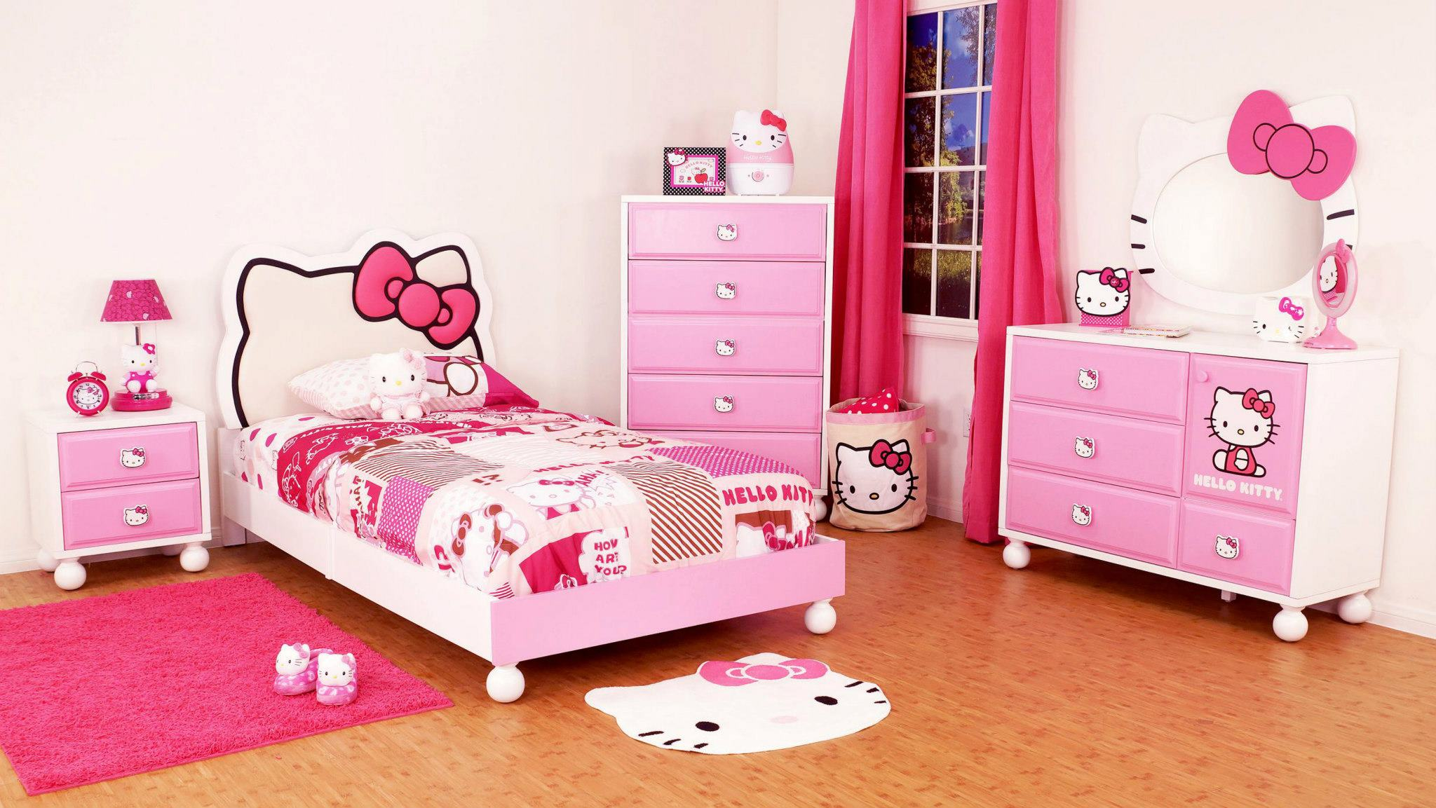 View in gallery hello kitty theme kids bedroom interior design