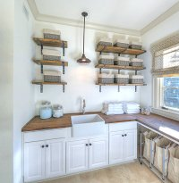 Eye-Catching Laundry Room Shelving Ideas