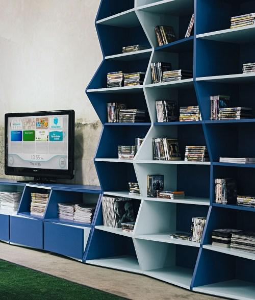 Medium Of Modern Contemporary Bookshelves