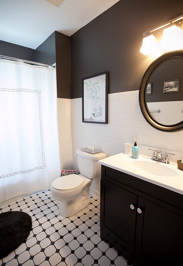 Rustic Bathroom Vanity Black And White Bathrooms: Design Ideas, Decor And Accessories