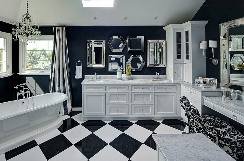 Couch Schwarz Black And White Bathrooms: Design Ideas, Decor And Accessories