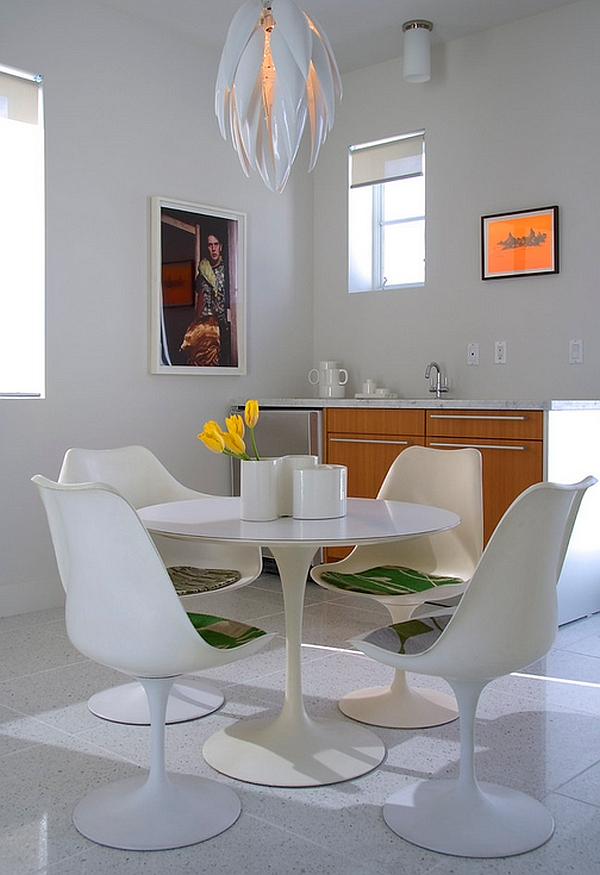 Stylish Wallpaper Heart Minimalist Dining Room Ideas Designs Photos Inspirations