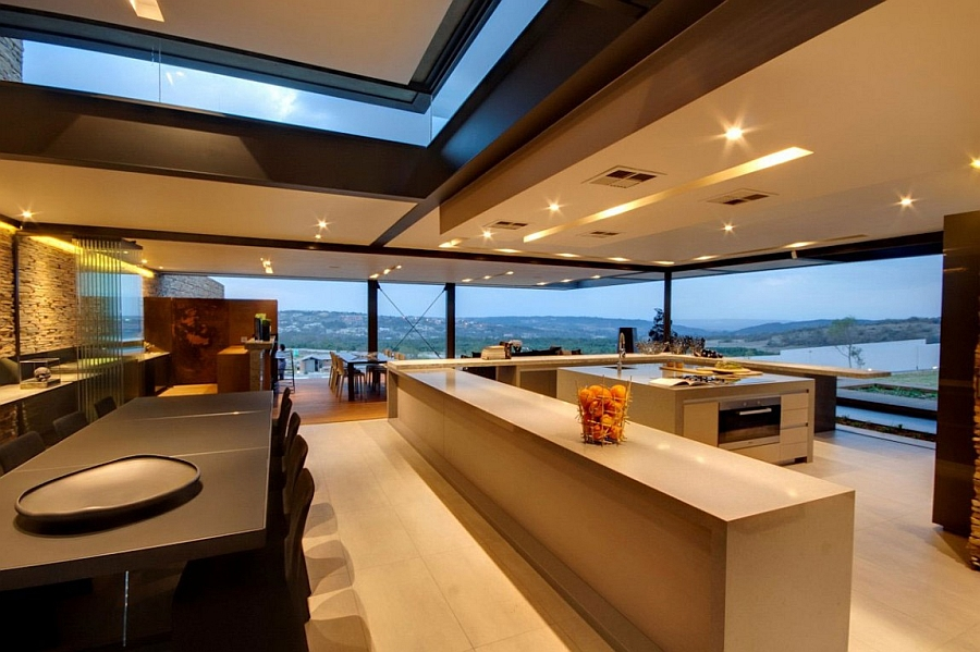 Functional Kitchen Island Designs Lavish House Reinterprets The Classic Bush Lodge With