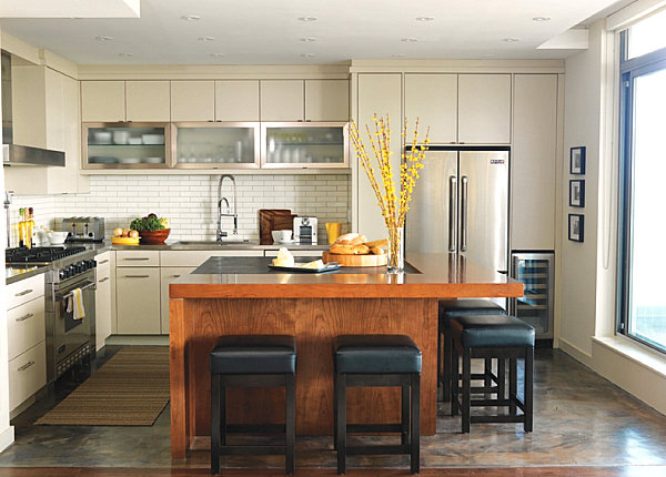 Modern Pendant Lights For Kitchen Island 15 Kitchens With Stainless Steel Countertops
