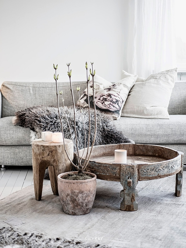 Teppich Vintage Reclaimed Tree Trunk Tables For The Eco-friendly Home