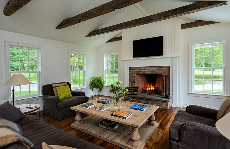 Farmhouse Style Interiors, Ideas, Inspirations - farmhouse living room decor