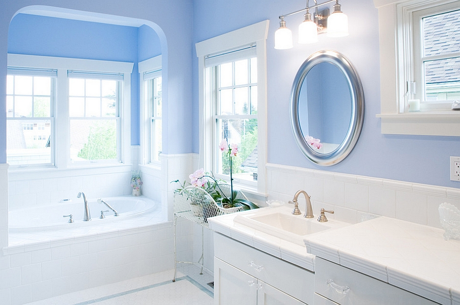 Pale Blue Bathroom Ideas Blue And White Interiors: Living Rooms, Kitchens, Bedrooms