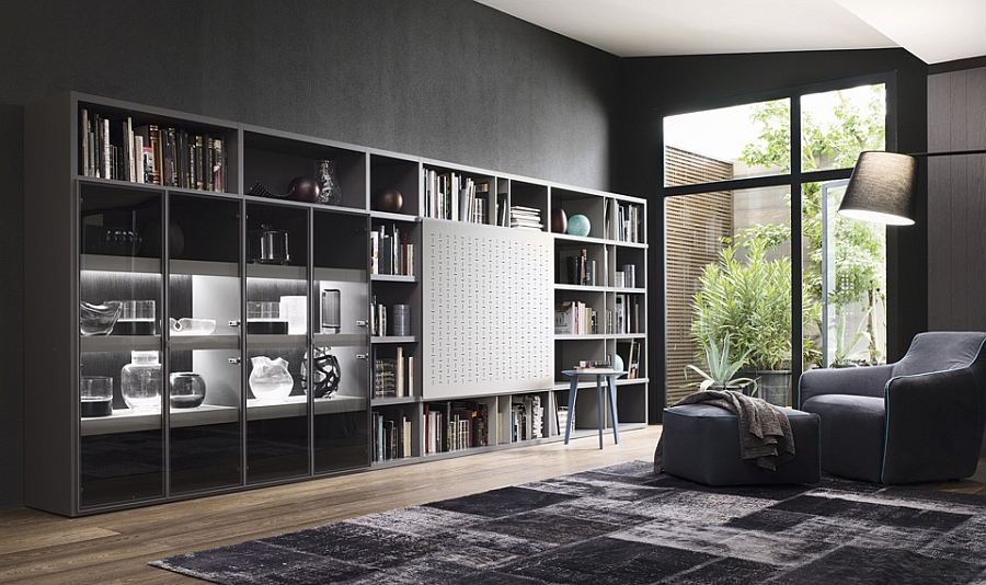 Contemporary Living Room Wall Units And Libraries, Ideas - wall units for living rooms
