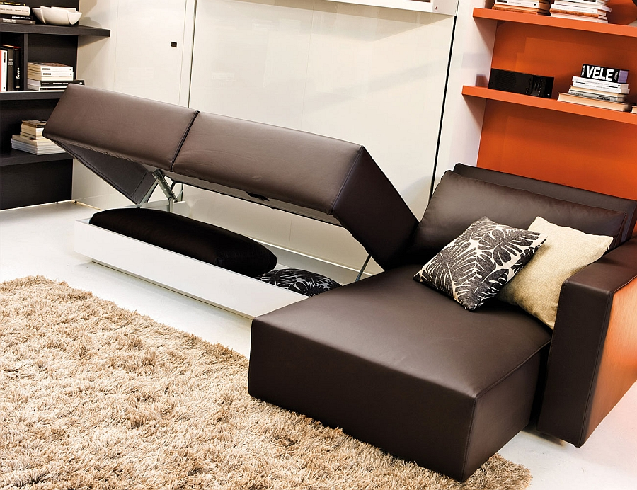 Klappbett Sofa Transformable Murphy Bed Over Sofa Systems That Save Up On