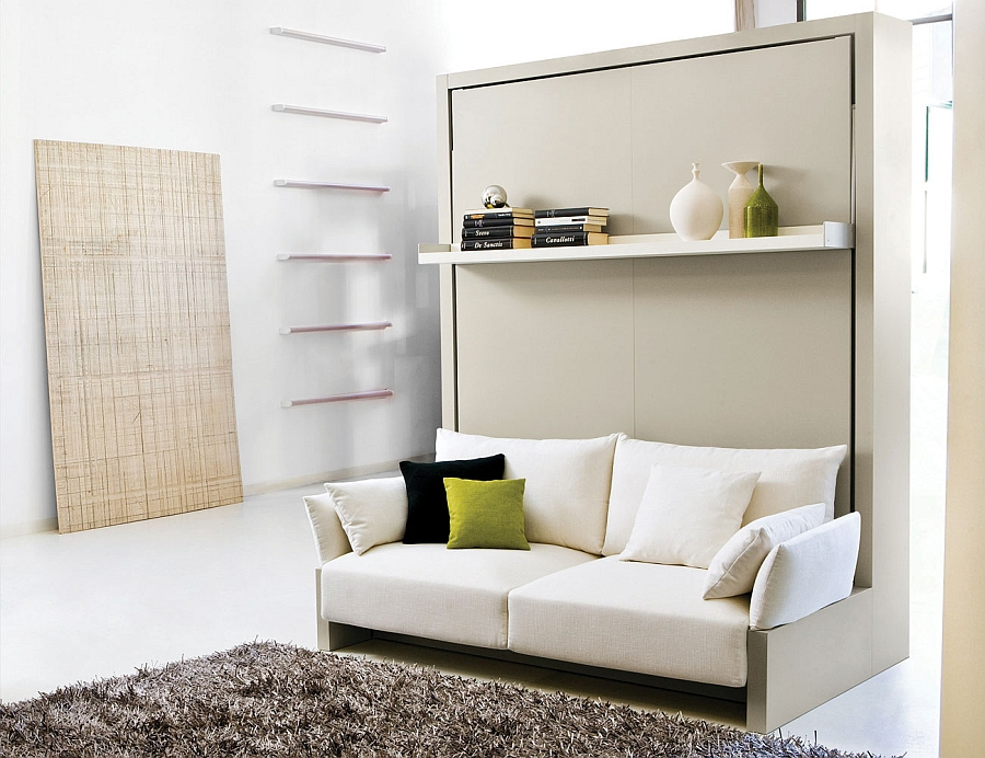 Muebles Camas Abatibles Ikea Transformable Murphy Bed Over Sofa Systems That Save Up On