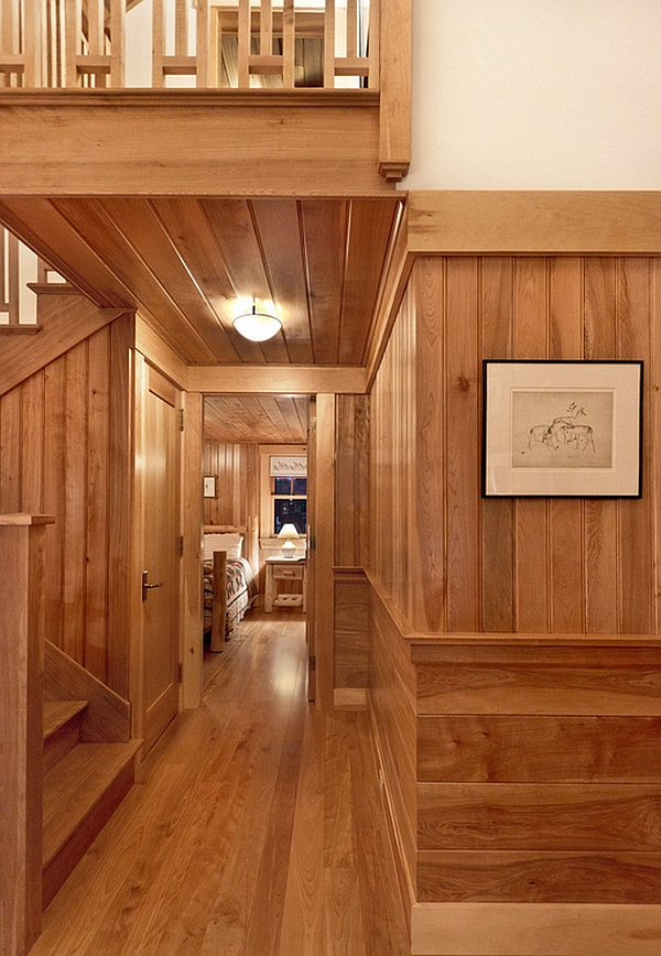 Kitchen Island Ventilation Cozy Cabin Retreat Combines Warmth Of Wood With A Bright