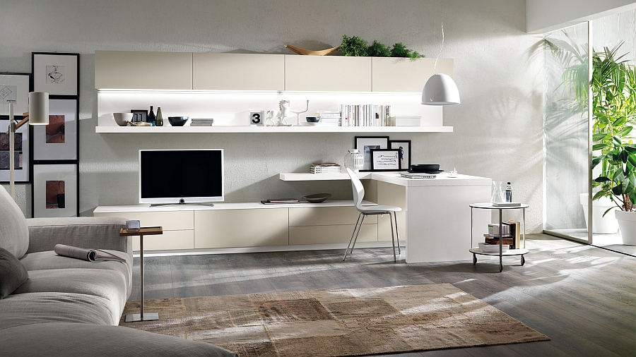 Urban Design Wohnwand Posh Minimalist Living Spaces Charm With Geometric Lines