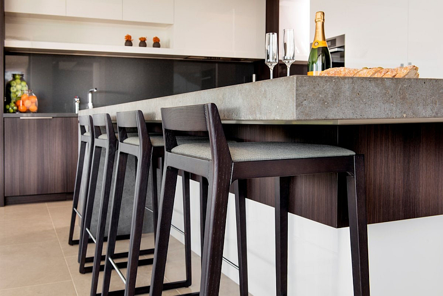 Kitchen Island Chairs With Backs Lavish Family Residence In Perth Blends Aesthetics With