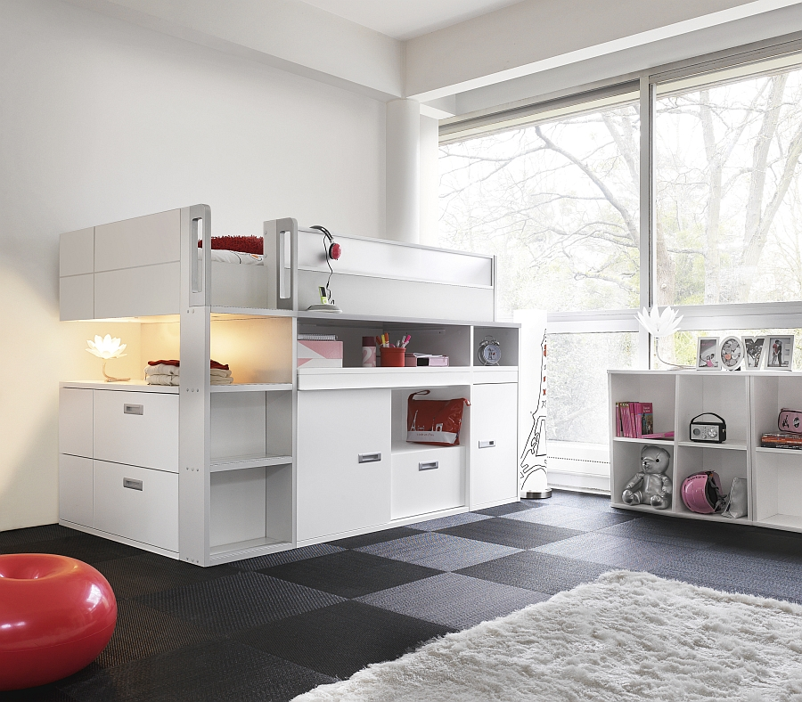 Hoogslaper Met Opbergruimte Back To School Kids Bedrooms From Gautier